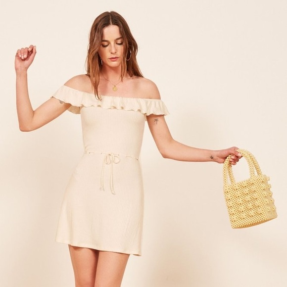 NWT Reformation Grenada Dress in Ivory 553d8698a